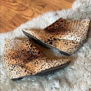 Matisse Western Style Animal Print Wedge Bootie